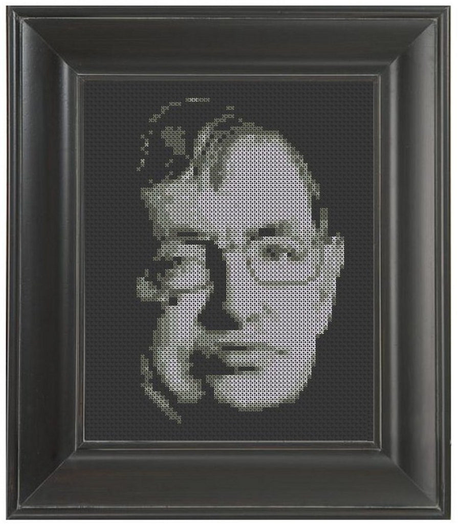 Stephen Hawking - Cross Stitch Pattern Chart