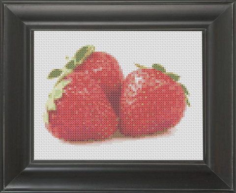 Strawberries - Cross Stitch Pattern Chart