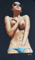 Sunbathing - Cross Stitch Pattern Chart Erotic Nude Sexy NSFW