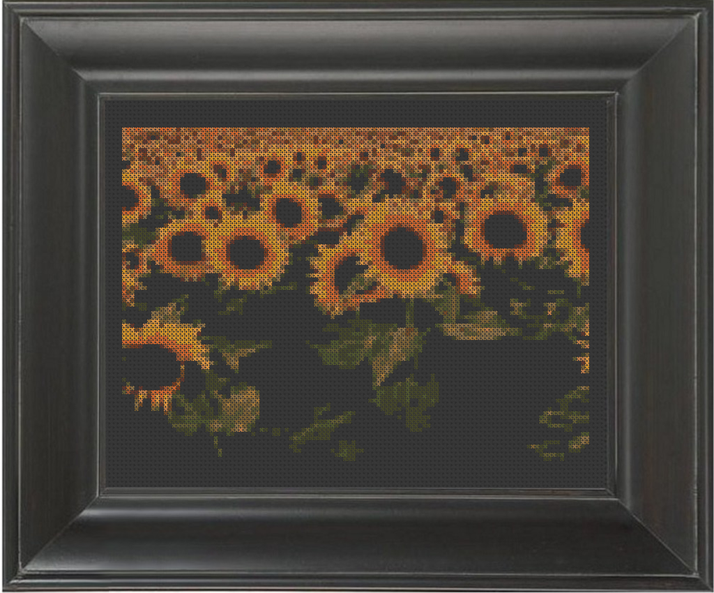 Sunflower Field - Cross Stitch Pattern Chart