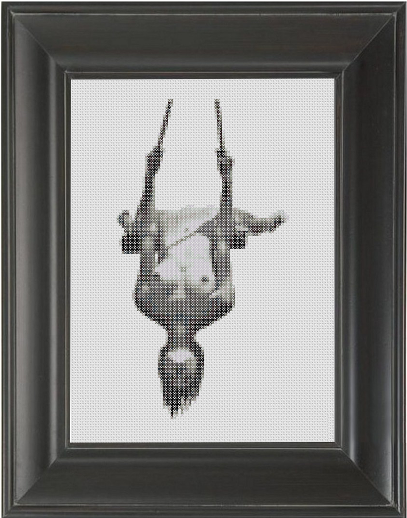 A Swing - Cross Stitch Pattern Chart Erotic Nude Sexy NSFW