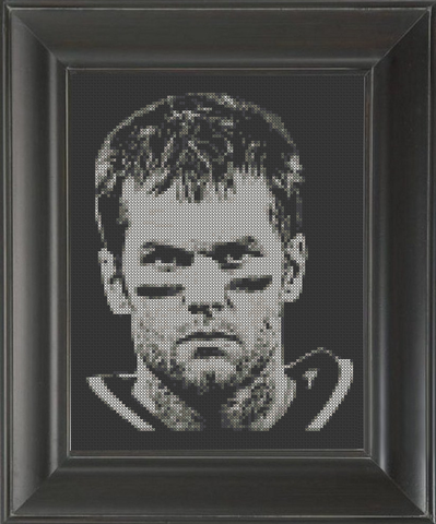 Tom Brady - Cross Stitch Pattern Chart