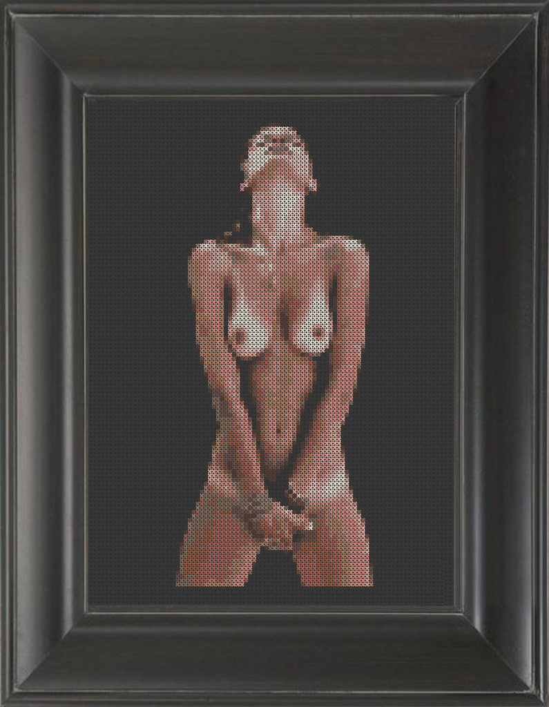 Tan Lines - Cross Stitch Pattern Chart Erotic Nude Sexy NSFW