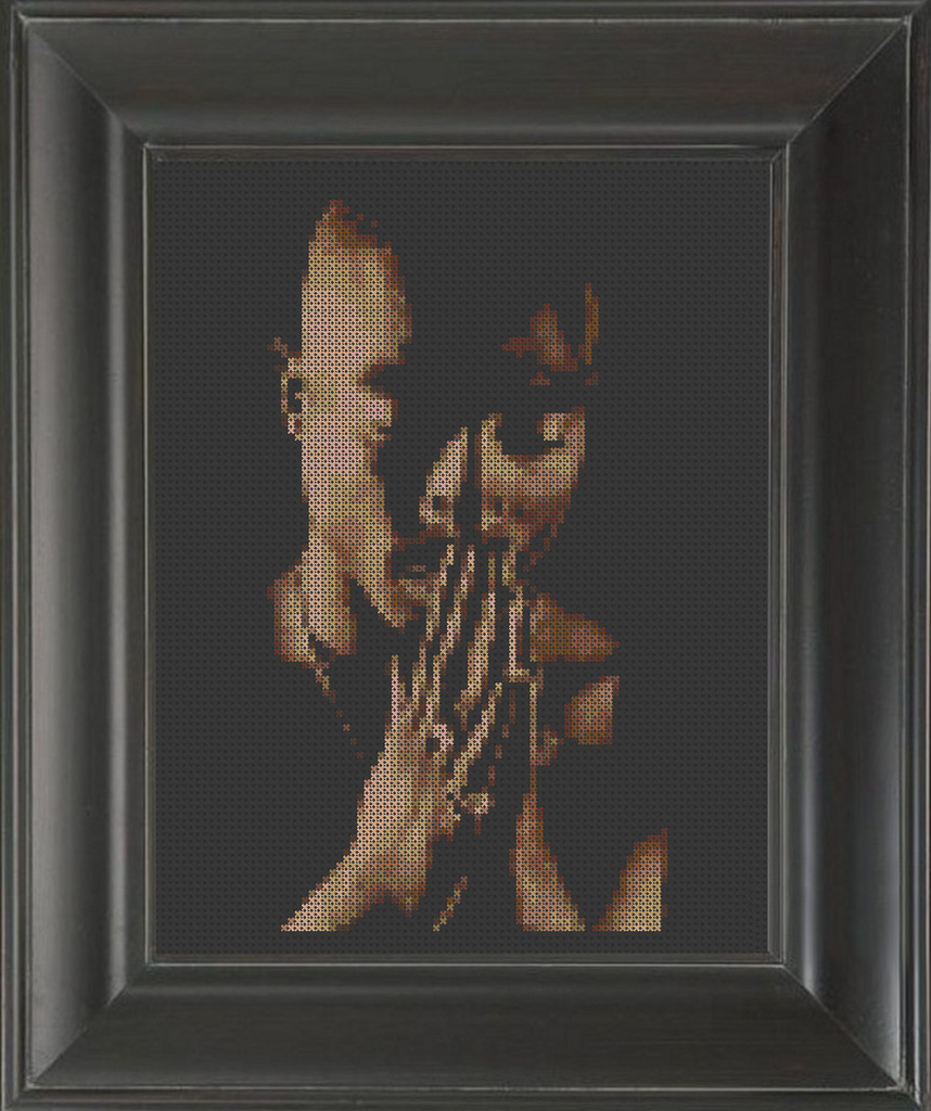 Tupac Shakur 02 - Cross Stitch Pattern Chart