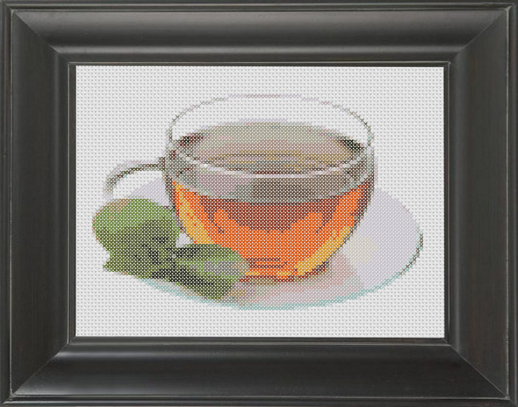 Tea - Cross Stitch Pattern Chart