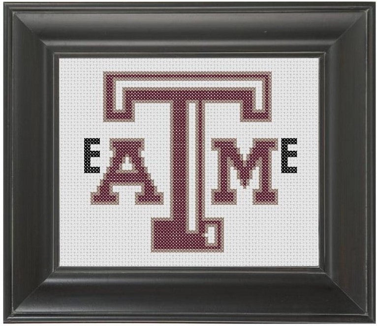 Texas A&M Eat Me - Cross Stitch Pattern Chart