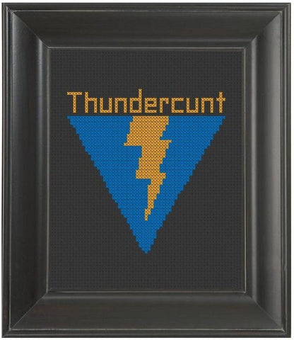 Thundercunt - Cross Stitch Pattern Chart