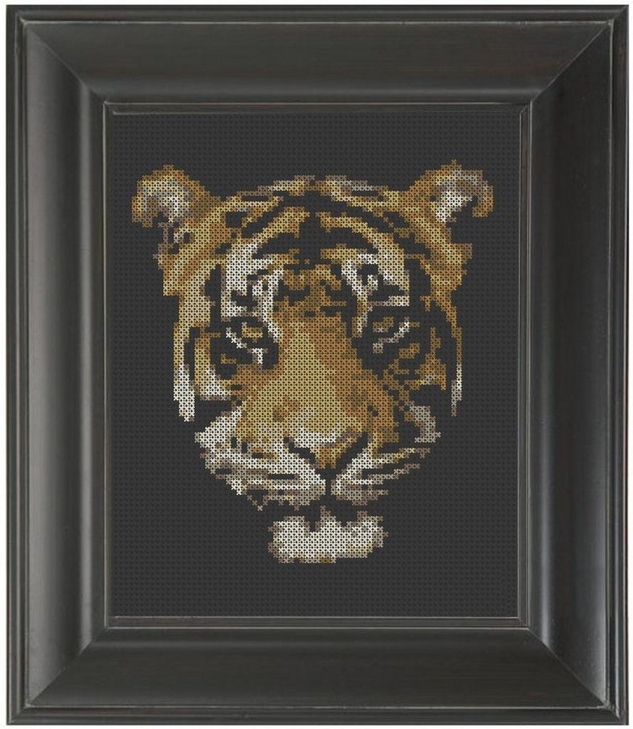Tiger Face - Cross Stitch Pattern Chart
