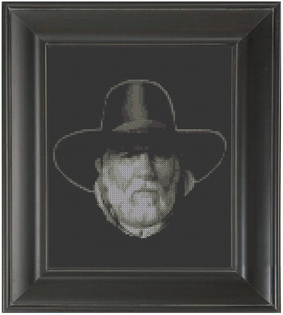 Tommy Lee Jones - Lonesome Dove - Cross Stitch Pattern Chart
