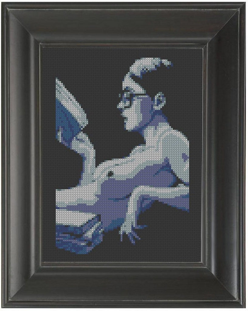 Topless Reading - Cross Stitch Pattern Chart Erotic Nude Sexy NSFW