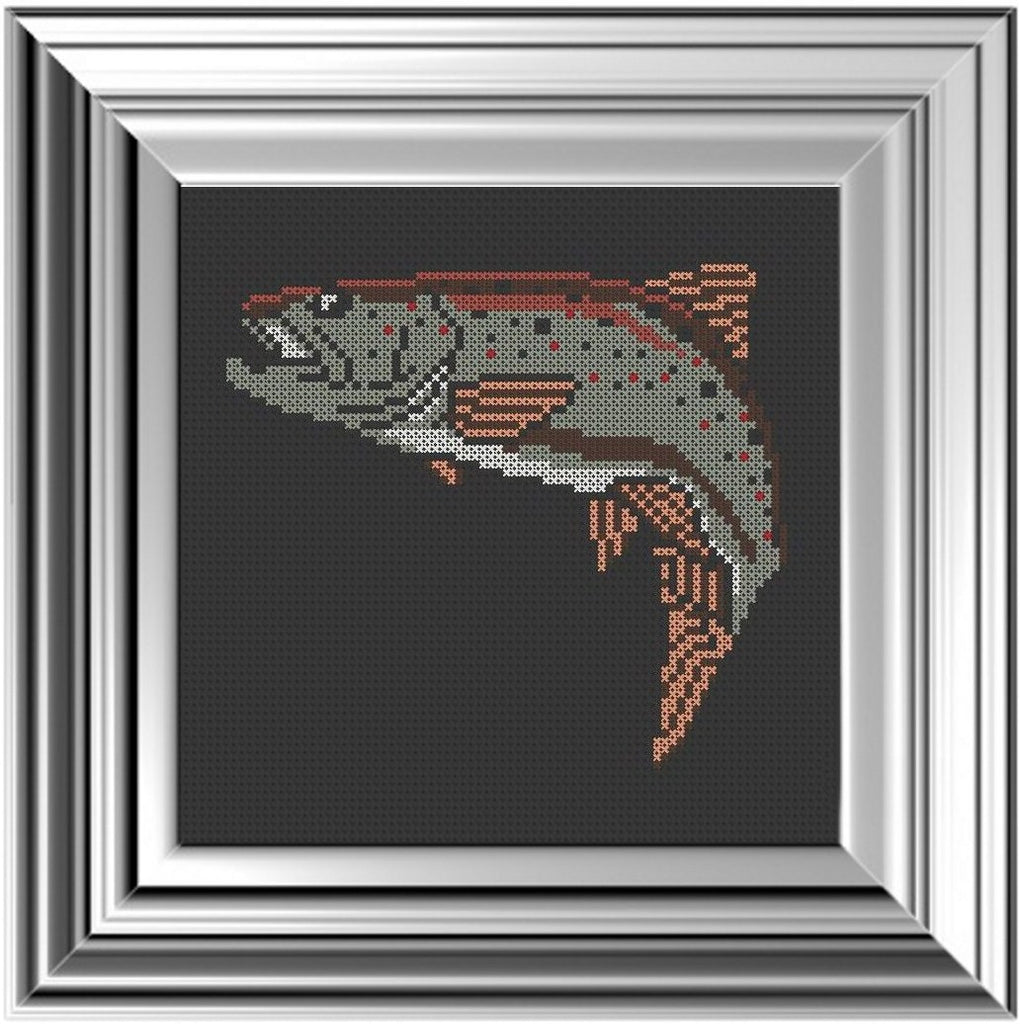 Trout - Cross Stitch Pattern Chart