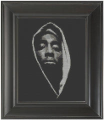 Tupac Shakur - Cross Stitch Pattern Chart