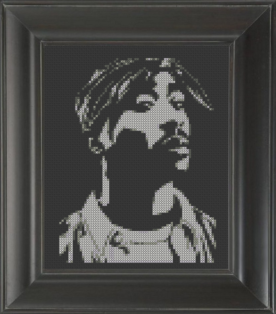 Tupac Shakur 03 - Cross Stitch Pattern Chart