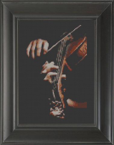 Violin 01 - Cross Stitch Pattern Chart