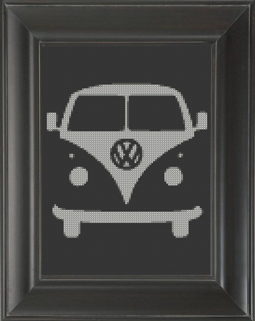 Volkswagen Bus - Cross Stitch Pattern Chart