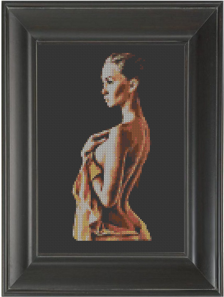 Valentina - Cross Stitch Pattern Chart Erotic Nude Sexy NSFW