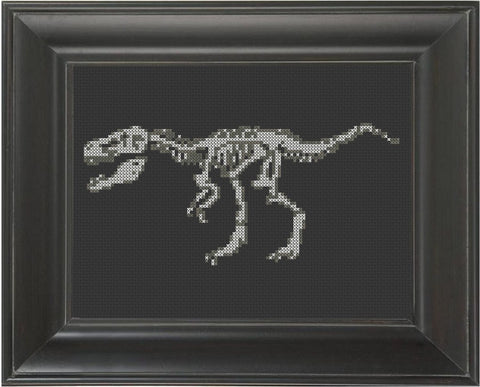 Velociraptor - Cross Stitch Pattern Chart - FEATURED