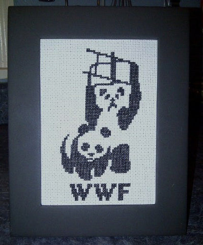 WWF Pandas - Cross Stitch Pattern Chart Panda
