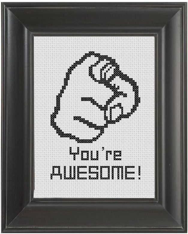 You're Awesome! - Cross Stitch Pattern Chart