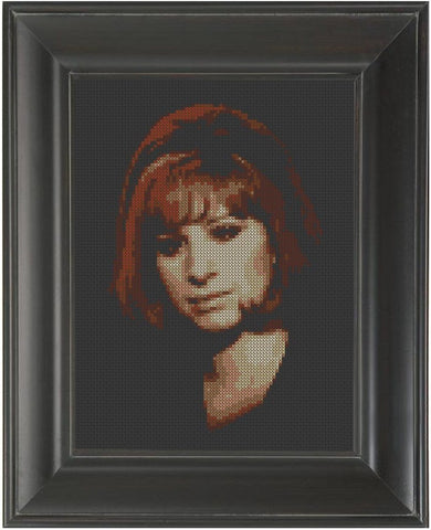 Barbra Streisand - Cross Stitch Pattern Chart