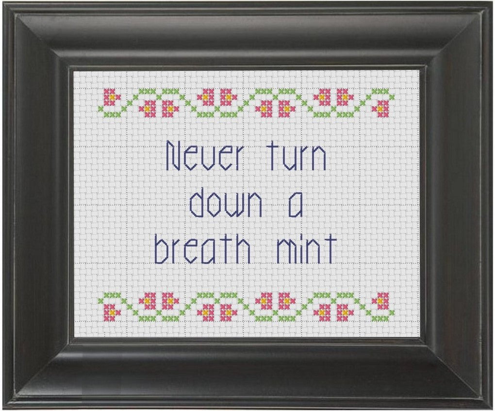Breath Mint - Cross Stitch Pattern Chart