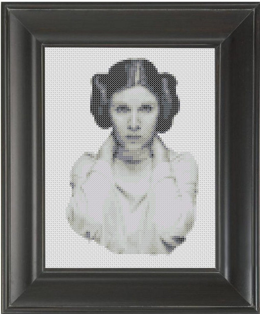 Carrie Fisher - Cross Stitch Pattern Chart