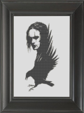 Crow, The - Cross Stitch Pattern Chart