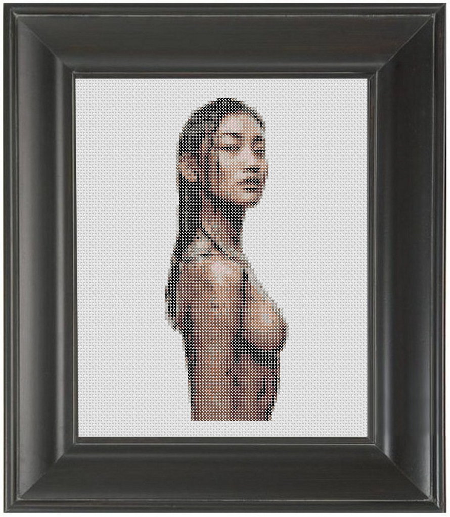 Dirty - Cross Stitch Pattern Chart Erotic Nude Sexy NSFW