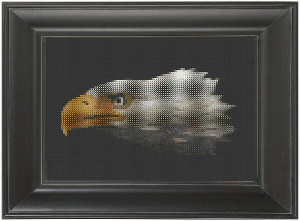 Eagle Head - Cross Stitch Pattern Chart