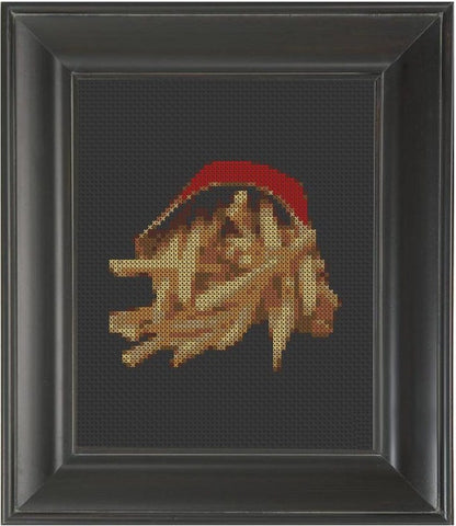 French Fries - Cross Stitch Pattern Chart