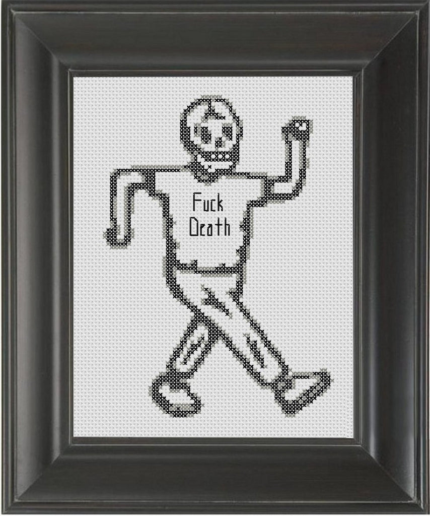 Fuck Death - Cross Stitch Pattern Chart