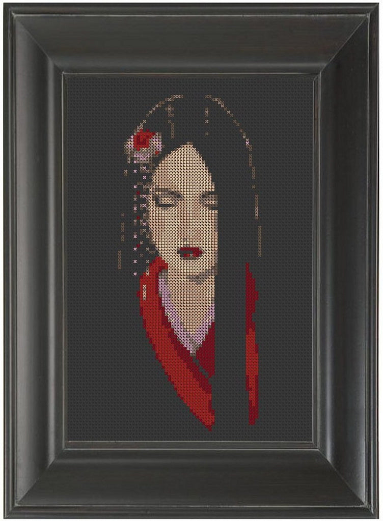 Geisha - Cross Stitch Pattern Chart