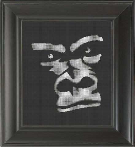 Gorilla Face - Cross Stitch Pattern Chart
