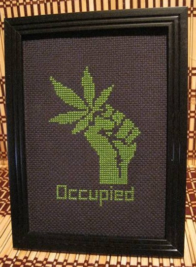 Occupied - Cross Stitch Pattern Chart Marijuana 420