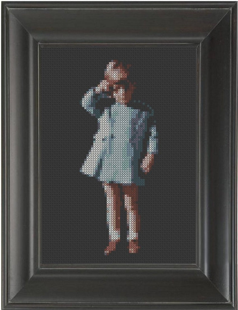 JFK Jr Salute - Cross Stitch Pattern Chart Kennedy