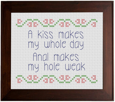 A Kiss - Cross Stitch Pattern Chart