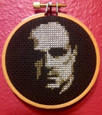 Marlon Brando Threezle - Cross Stitch FINISHED PIECE