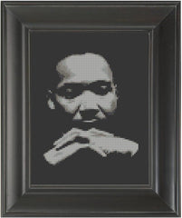 Martin Luther King, Jr. - Cross Stitch Pattern Chart MLK