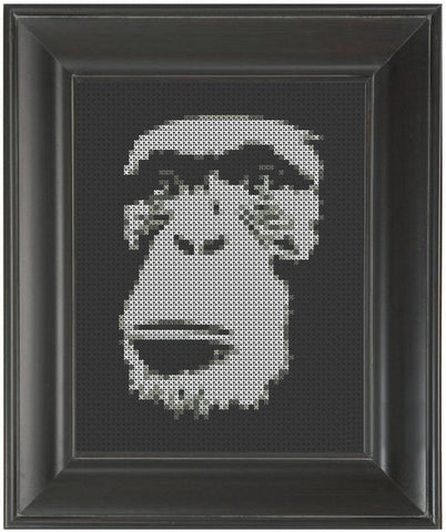 Monkey Face - Cross Stitch Pattern Chart