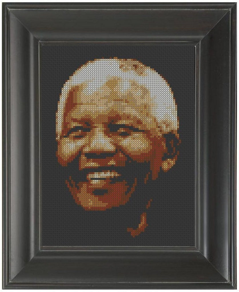 Nelson Mandela - Cross Stitch Pattern Chart