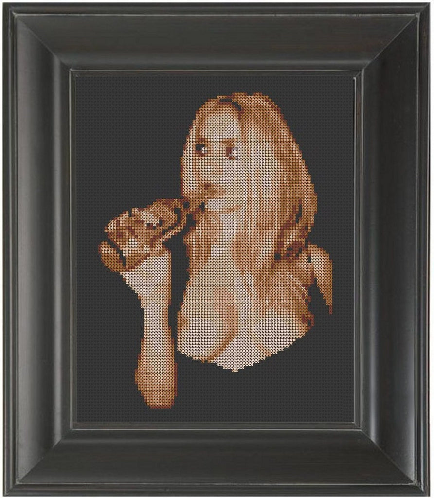 Beer and Boobs - Cross Stitch Pattern Chart Erotic Nude Sexy NSFW