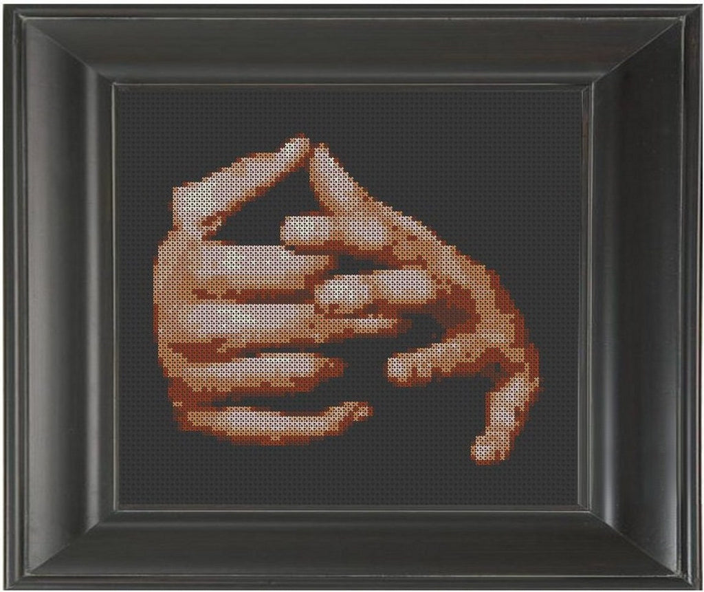 Restless Hands - Cross Stitch Pattern Chart