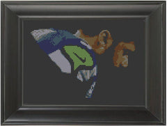 Russell Wilson - Cross Stitch Pattern Chart