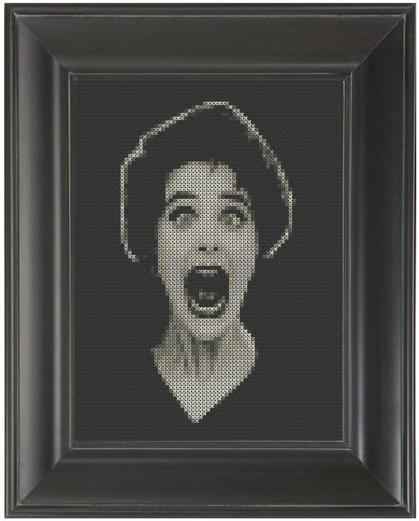 Screaming Woman - Cross Stitch Pattern Chart