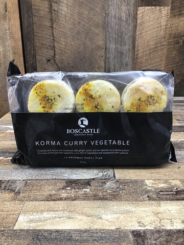 Boscastle Korma Curry Vegetable Party Pies