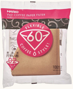 Hario V60-02 Brown (100Pack)