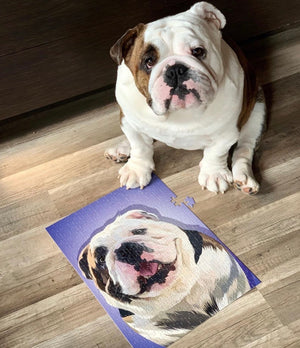 Custom Two-Pet Portrait Puzzle