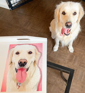 Custom Four-Pet Portrait Puzzle