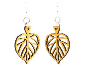 Leaf Blossom Wooden Earrings