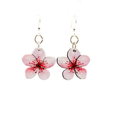 Cherry Blossom Wooden Earrings